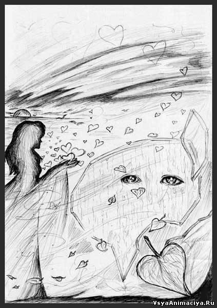 Рисунки карандашом абстракции для