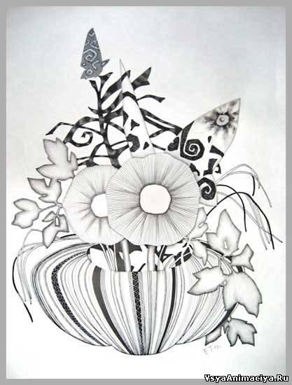Как нарисовать гвоздики на 9 мая