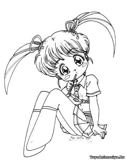 Красивые рисунки карандашом аниме для