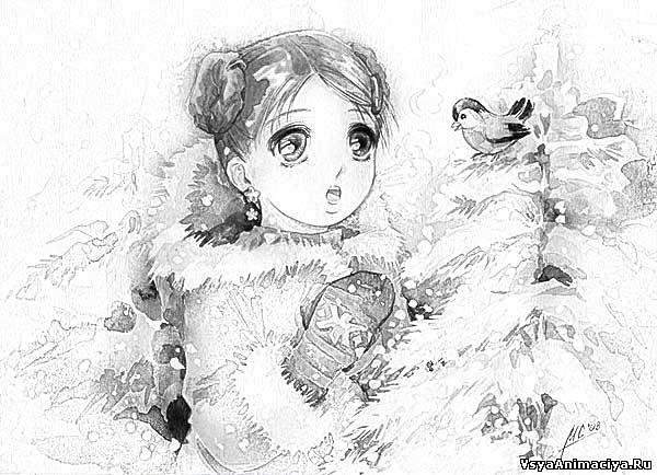 Картинки карандашом аниме, нарисованные картинки аниме чёрно-белые